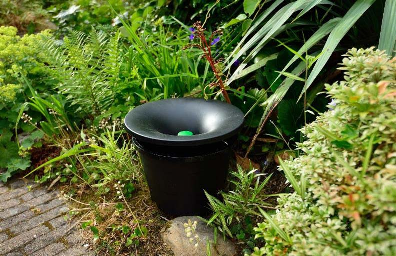 In2Care mosquito trap in a garden